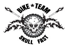 Skull logo Stock Images