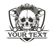 SKULL machine motorcycle wrench Royalty Free Stock Photos