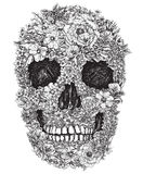 Skull Made Out of Flowers Vector Illustration royalty free illustration