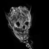 Skull made up of smoke, Stock Images