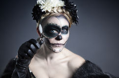 Skull Makeup Royalty Free Stock Photography