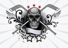 Skull Mascot Hockey Royalty Free Stock Photography