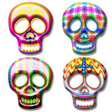 Skull Mask. Ornamental Skulls for Mexican Calaveras Stock Images