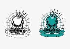Skull on mask Royalty Free Stock Photography