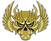 Skull mask with wings Royalty Free Stock Photos