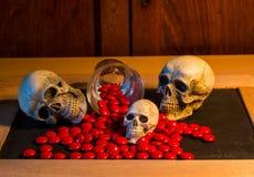 Skull and medicine Royalty Free Stock Photo