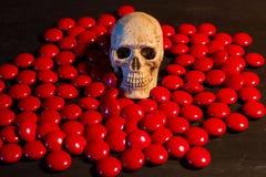 Skull and medicine Stock Photo