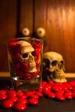Skull and medicine Stock Image