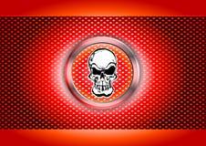 Skull metal poster Stock Image