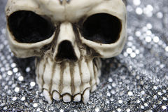 Skull with metallic bokeh Stock Photo