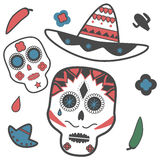 Skull Mexican Royalty Free Stock Images