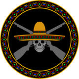 Skull of mexican warrior Royalty Free Stock Photography
