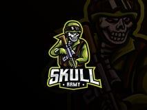 Free Skull Military Mascot Sport Logo Design Royalty Free Stock Images - 188244589