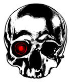 Skull with a monocle Royalty Free Stock Photos
