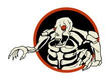 Skull monster circle symbol Stock Photo