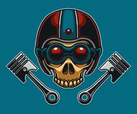 Skull Motorcycle Biker Club. Made special for you.nIt can be used as a mascot, icon, or be printed in your t-shirt Stock Photos