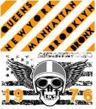 Skull Motorcycle Helmet Poster T shirt Graphic Design Stock Image