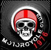 Skull Motorcycle Helmet T shirt Graphic Design Royalty Free Stock Photos