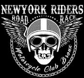 Skull Motorcycle Helmet T shirt Graphic Design Stock Photos