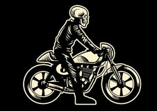 Skull motorcycle rider Stock Photography