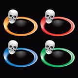 Skull on multicolored rings Royalty Free Stock Images