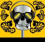 Skull Music Background Stock Image