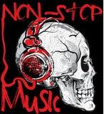 Skull music t shirt design Stock Photos