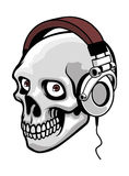 Skull music Royalty Free Stock Photography