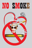 Skull and no smoking Royalty Free Stock Photo
