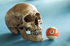 Skull with number 13 Royalty Free Stock Photography