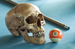 Skull with number 13 Royalty Free Stock Images