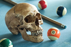 Skull with number 13 Stock Photography