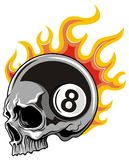 Skull with number and flame Royalty Free Stock Images