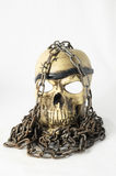 Skull and old Chains Stock Photography