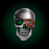 Skull with one eye Stock Images