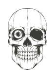 Skull with One Eye Stock Image