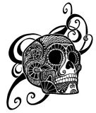 Skull ornament Stock Images