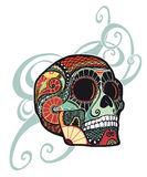 Skull ornament (colored) Royalty Free Stock Photo