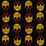 Skull Ornamental Pattern Royalty Free Stock Photo