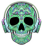 Skull with ornaments Royalty Free Stock Images