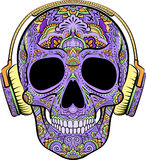 Skull with ornaments Stock Images