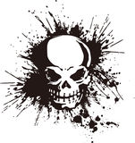 Skull and paint,. I designed the skull and scattered paint Royalty Free Stock Images