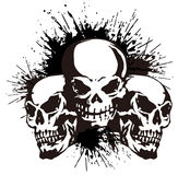 Skull and paint,. I designed the skull and scattered paint Royalty Free Stock Photo