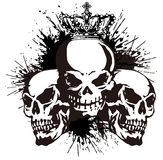 Skull and paint, Royalty Free Stock Photography
