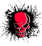 Skull and paint, Stock Images