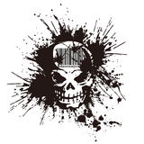 Skull and paint,. I designed the skull and scattered paint Stock Image