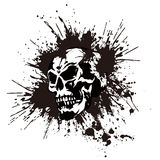 Skull and paint, Royalty Free Stock Photo