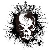 Skull and paint,. I designed the skull and scattered paint Royalty Free Stock Photos