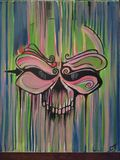 Skull Painting. Colorful skull painting stock image