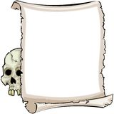 Skull & Parchment Royalty Free Stock Photo
